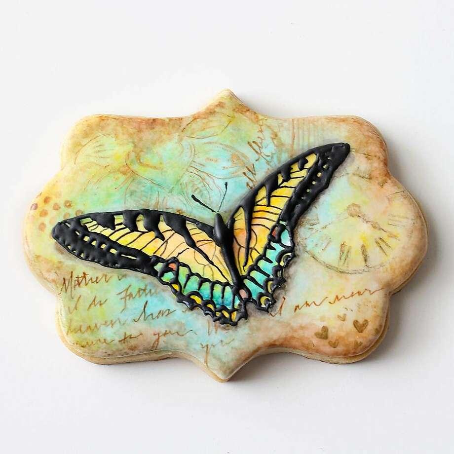 One of Arty McGoo's butterfly cookies Photo: A Cookie Creation By�Arty McGoo Aka Elizabeth Adams