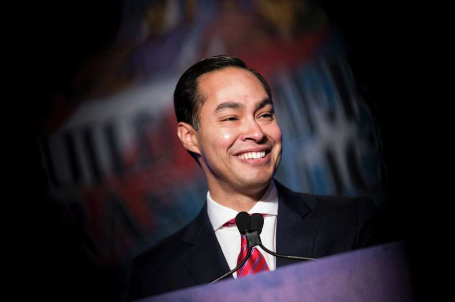 Secretary of Housing and Urban Development Julian Castro addresses the North American Building Trades Union National Legislative Conference April 19, 2016 in Washington, DC. / AFP PHOTO / Brendan SmialowskiBRENDAN SMIALOWSKI/AFP/Getty Images Photo: BRENDAN SMIALOWSKI, Stringer / AFP/Getty Images / AFP or licensors