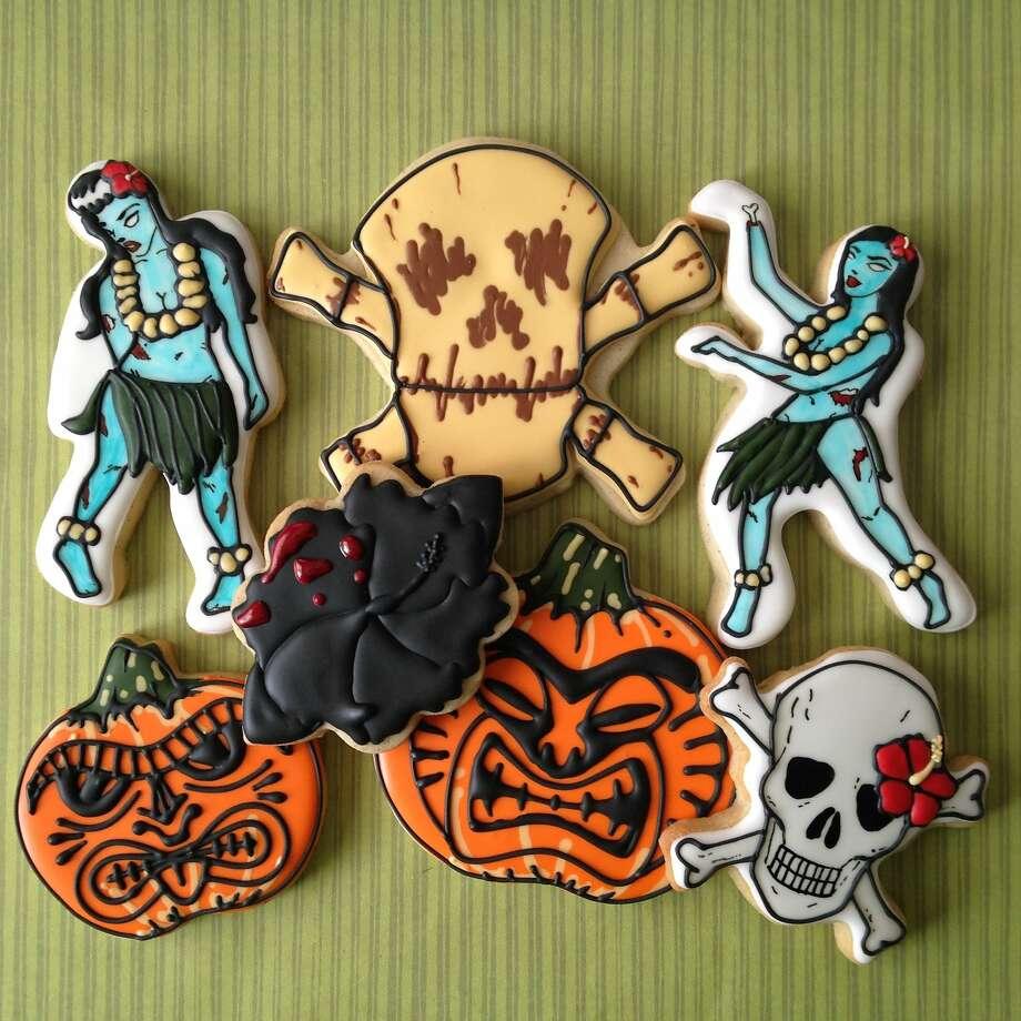 Cookies Annaleah Manipon ofI Hella Heart Sugar created for a spooky tiki party Photo: I Hella Heart Sugar
