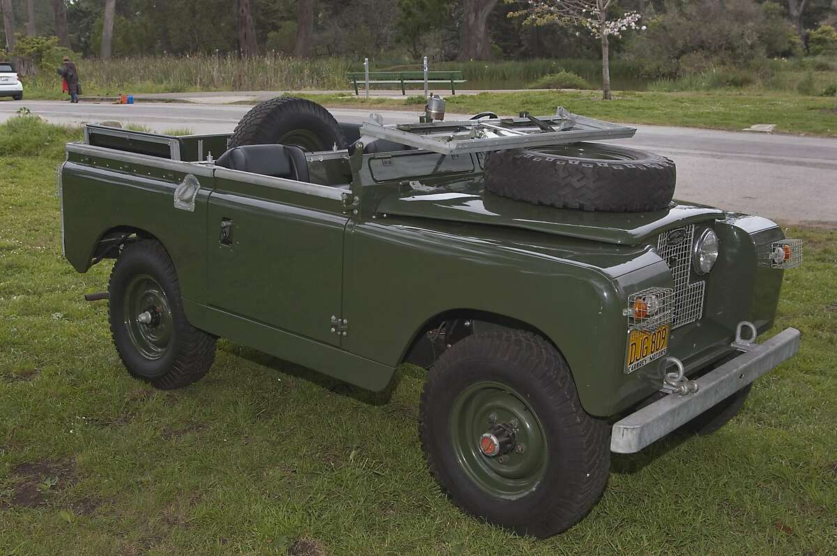 Photos of Daniel Oppenheim and his 1960 series II Land Rover photographed on Middle Drive in Golden Gate Park on April 12, 2016 for