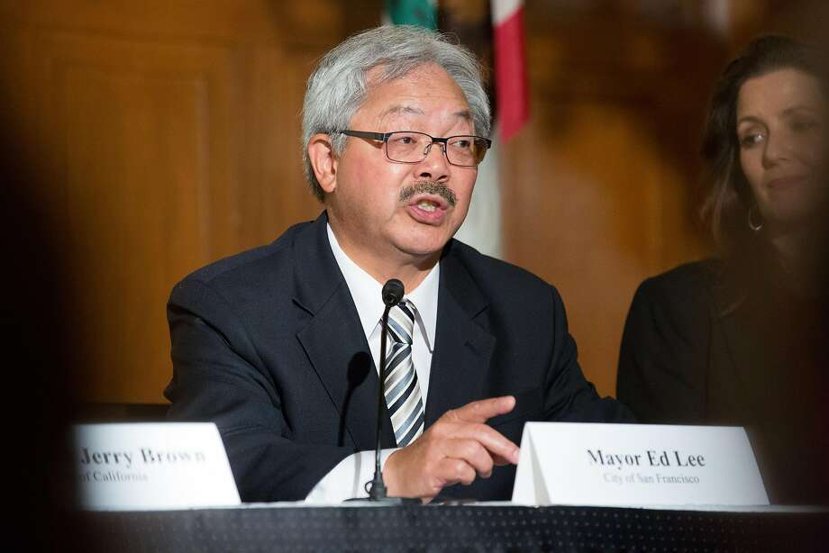 Four propositions on the fall ballot, backed by progressive San Francisco supervisors, are intended to limit the power of moderate Mayor Ed Lee. Photo: Amy Osborne, Special To The Chronicle