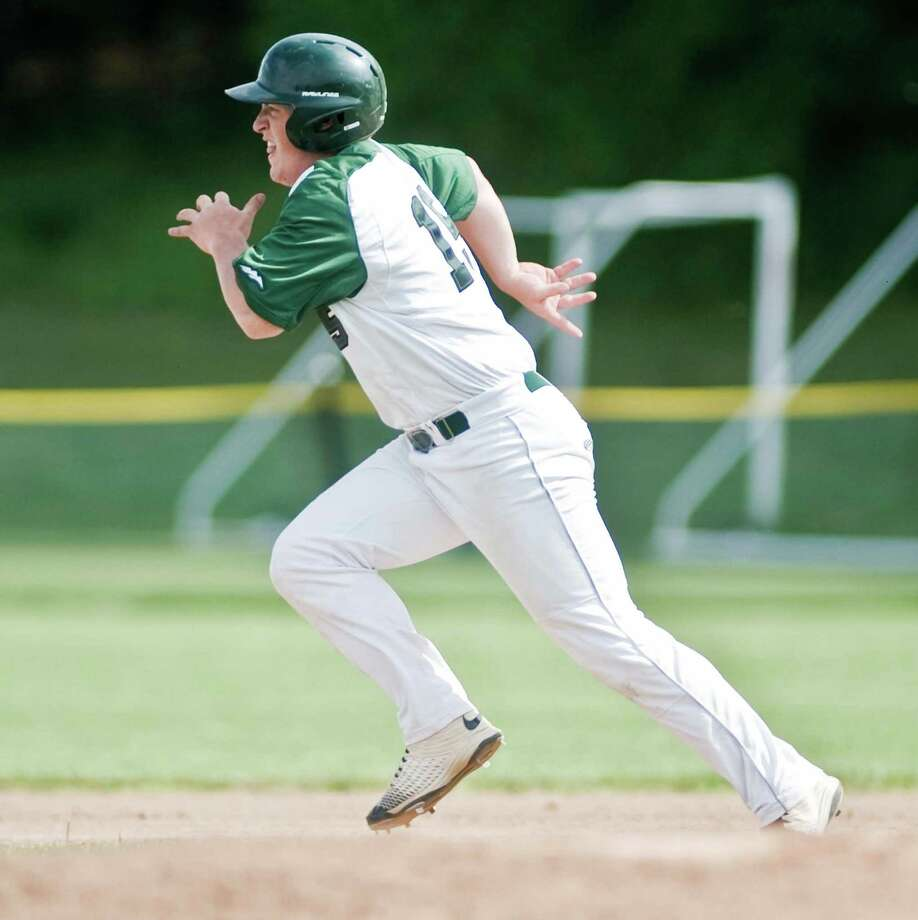 New Milford High School baseball vs Bristol Central High School, played at New Milford. Wednesday, June 1, 2016 Photo: Scott Mullin / For The / The News-Times Freelance