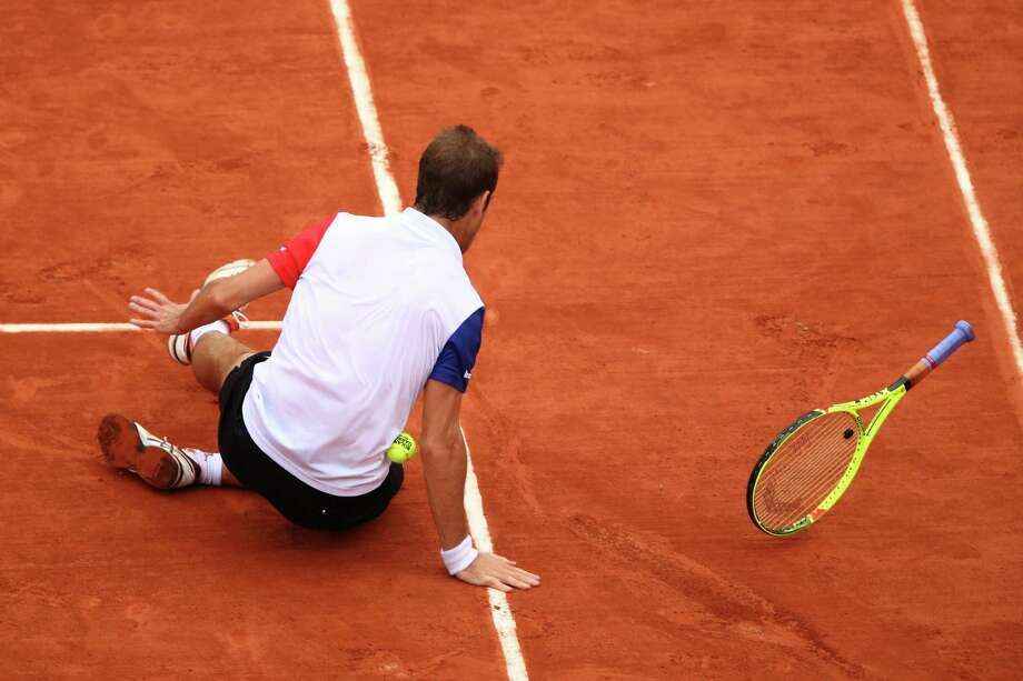 To the chagrin of the French faithful, Richard Gasquet fell to Andy Murray in four sets in a quarterfinal match. Photo: Clive Brunskill, Staff / 2016 Getty Images