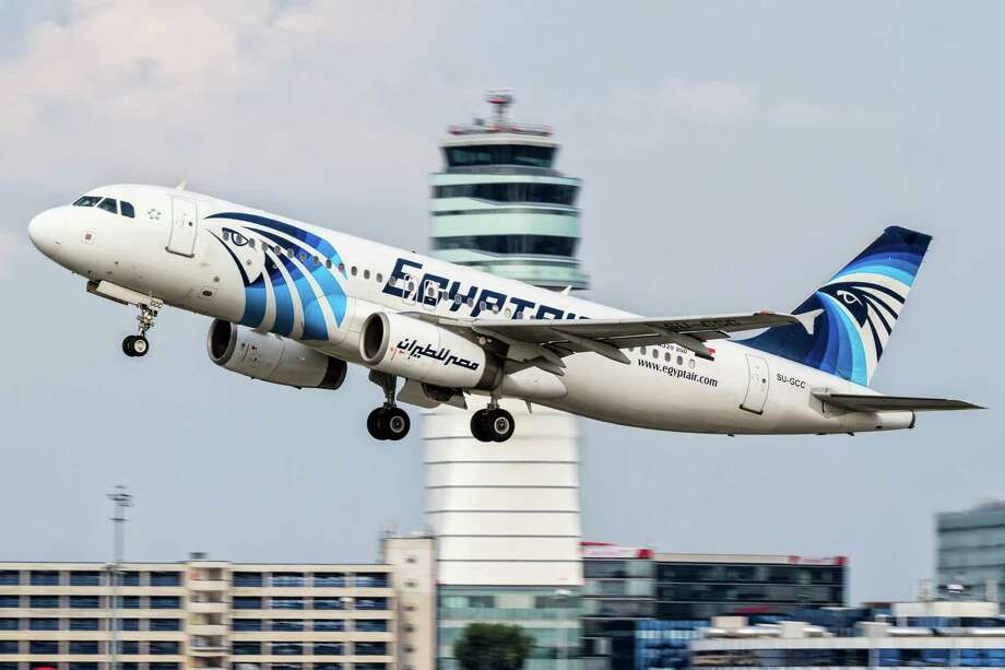 FILE -- This August 21, 2015 file photo shows an EgyptAir Airbus A320 with the registration SU-GCC taking off from Vienna International Airport, Austria. Egypt's Civil Aviation Ministry said Wednesday, June 1, 2016 that a French ship has picked up signals from deep under Mediterranean Sea, presumed to be from black boxes of the EgyptAir Airbus A320 with the registration SU-GCC that crashed last month, killing all 66 passengers and crew on board. The Civil Aviation Ministry is citing a statement from the committee investigating the crash as saying the vessel Laplace is the one that received the signals. It says that a second ship, John Lethbridge affiliated with the Deep Ocean Search firm, will join the search team later this week. (AP Photo/Thomas Ranner, File) Photo: Thomas Ranner, STR / Copyright 2016 The Associated Press. All rights reserved. This material may not be published, broadcast, rewritten or redistribu