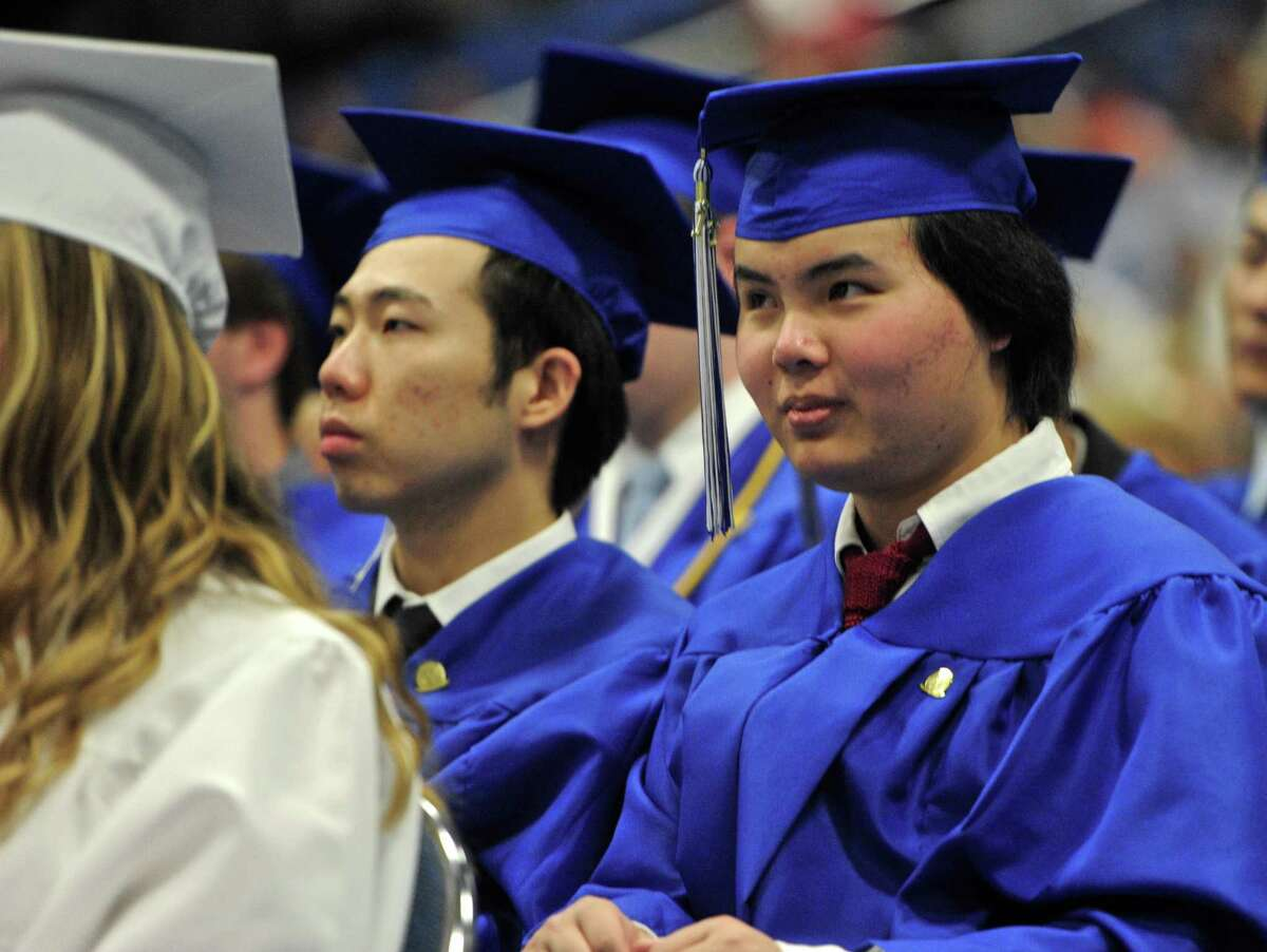 Photographs from the 2016 Immaculate High School Commencement Liturgy, held at the Western Connecticut State University O'Neil Center, on Tuesday night, June 1, 2016, in Danbury, Conn.