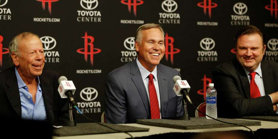 Rockets coach Mike D'Antoni, who says he shaved five years off his appearance when he lost his mustache, is a longtime advocate of small, quick lineups. He had success with that approach with the Suns and Milan, the team he coached in Italy. Photo: Karen Warren, Staff / © 2016 Houston Chronicle