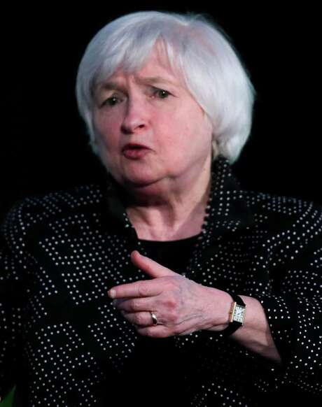 Federal Reserve Chair Janet Yellen during a Radcliffe Day event at Harvard University in Cambridge, Mass., Friday, May 27, 2016.  (AP Photo/Charles Krupa) Photo: Charles Krupa, STF / AP