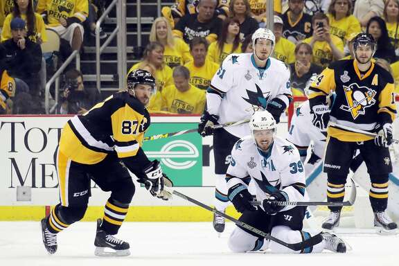 PITTSBURGH, PA - JUNE 01:  Sidney Crosby #87 of the Pittsburgh Penguins skates during the second period against the San Jose Sharks in Game Two of the 2016 NHL Stanley Cup Final at Consol Energy Center on June 1, 2016 in Pittsburgh, Pennsylvania.  (Photo by Bruce Bennett/Getty Images)