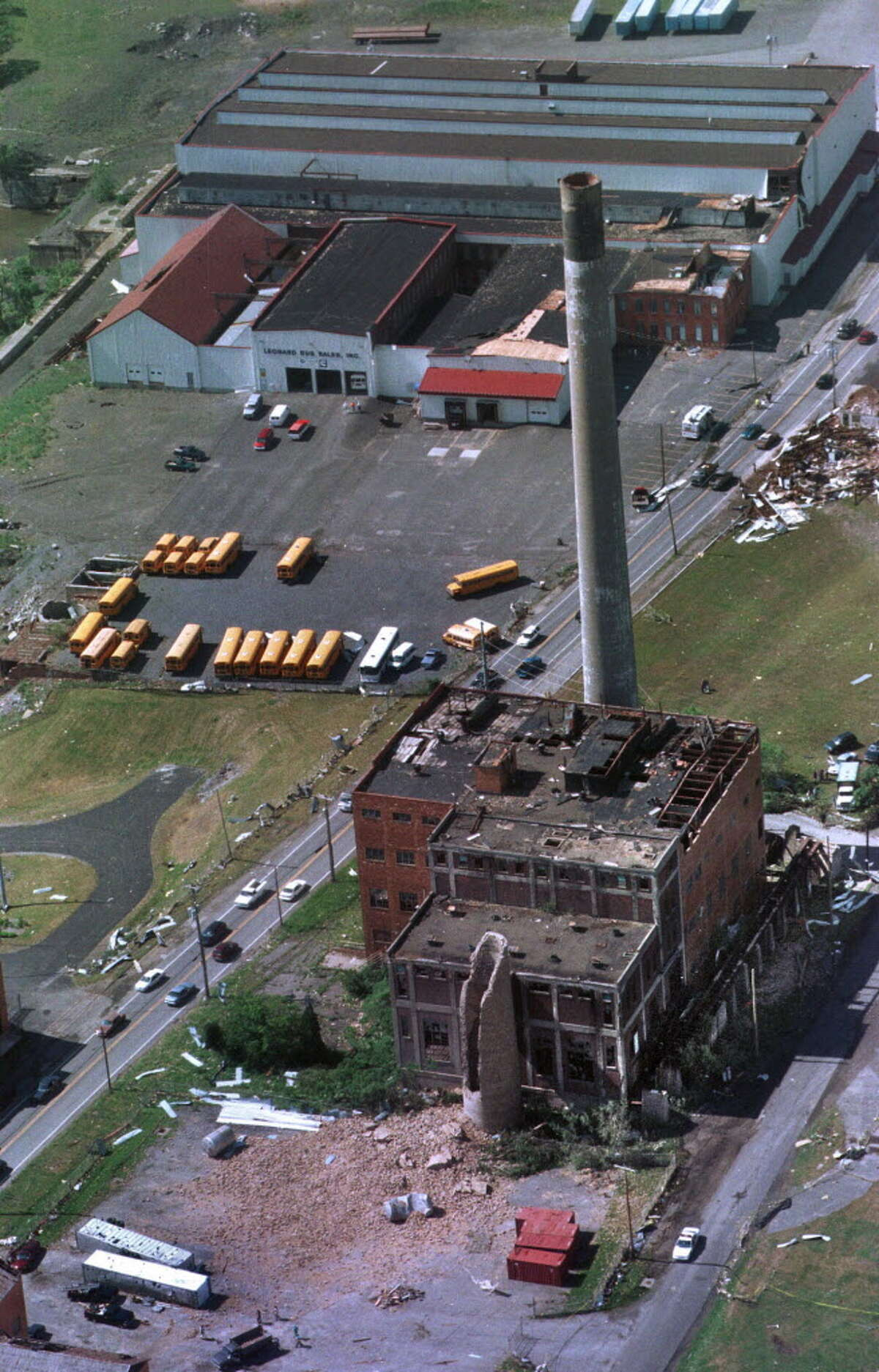 Click through for photos of the 1998 tornado that touched down in the Capital Region. Damage from the tornado that touched down in Mechanicville on Sunday May 31, 1998. (Times Union photo by Skip Dickstein)