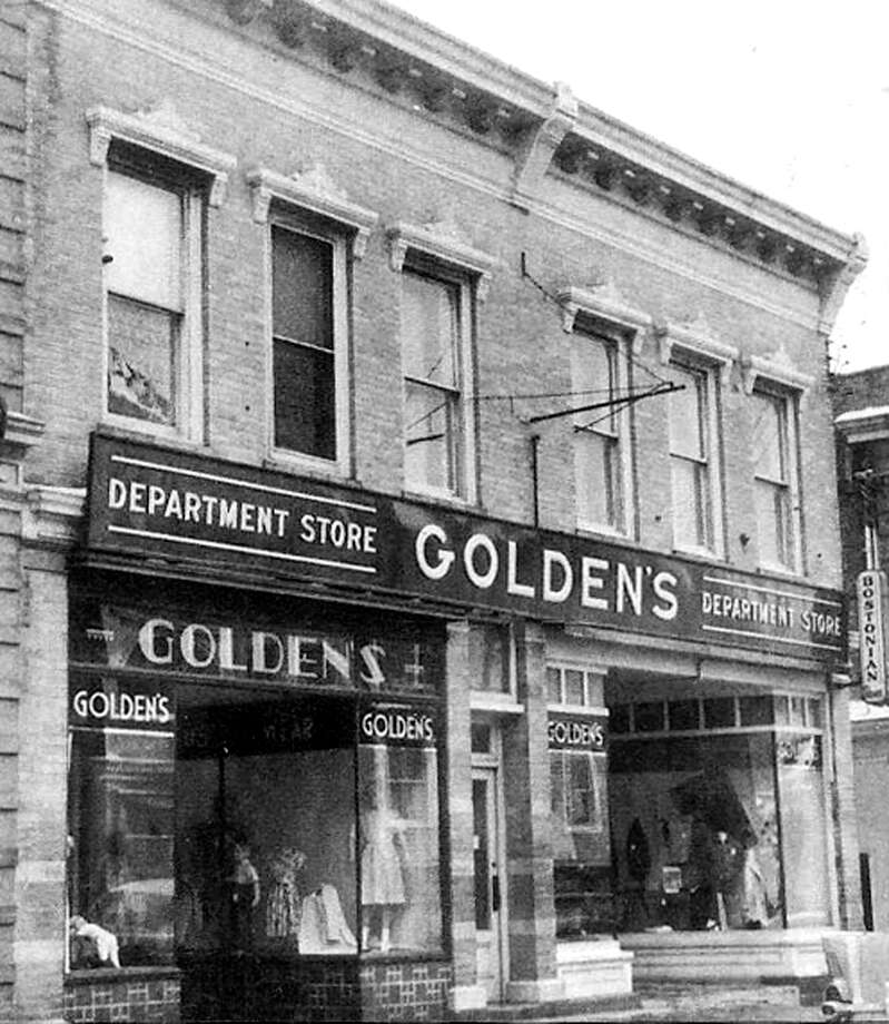 "Golden's Department Store along Bank Street in New Milford was a staple of the downtown business scene throughout much of the early and middle years of the 20th century, featuring its women's and men's clothing. Photo: Courtesy Of ""Howard Peck's New Milford"""