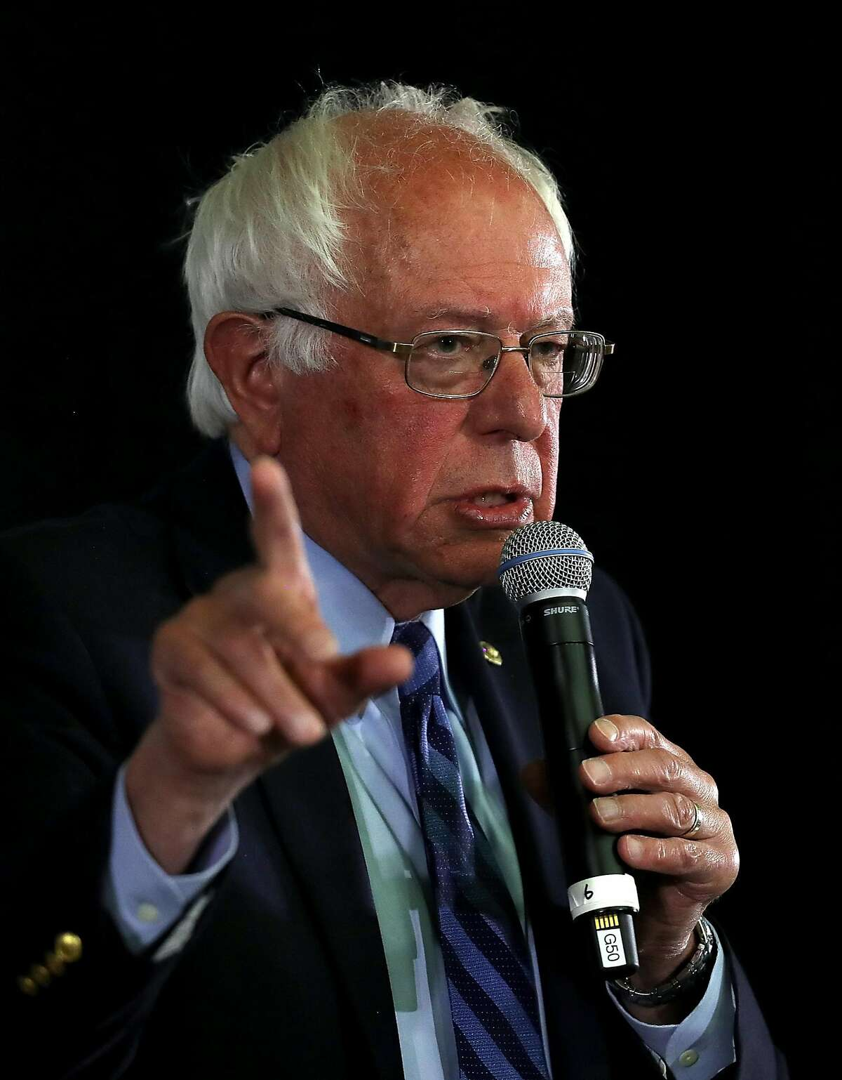 PALO ALTO, CA - JUNE 01: Democratic presidential candidate, U.S. Sen. Bernie Sanders (D-VT) speaks during a panel with Asian-Americans and Pacific Islanders at Cubberley Community Center on June 1, 2016 in Palo Alto, California. With less than a week to go before the California presidential primary, Sanders is campaigning in northern California. (Photo by Justin Sullivan/Getty Images)