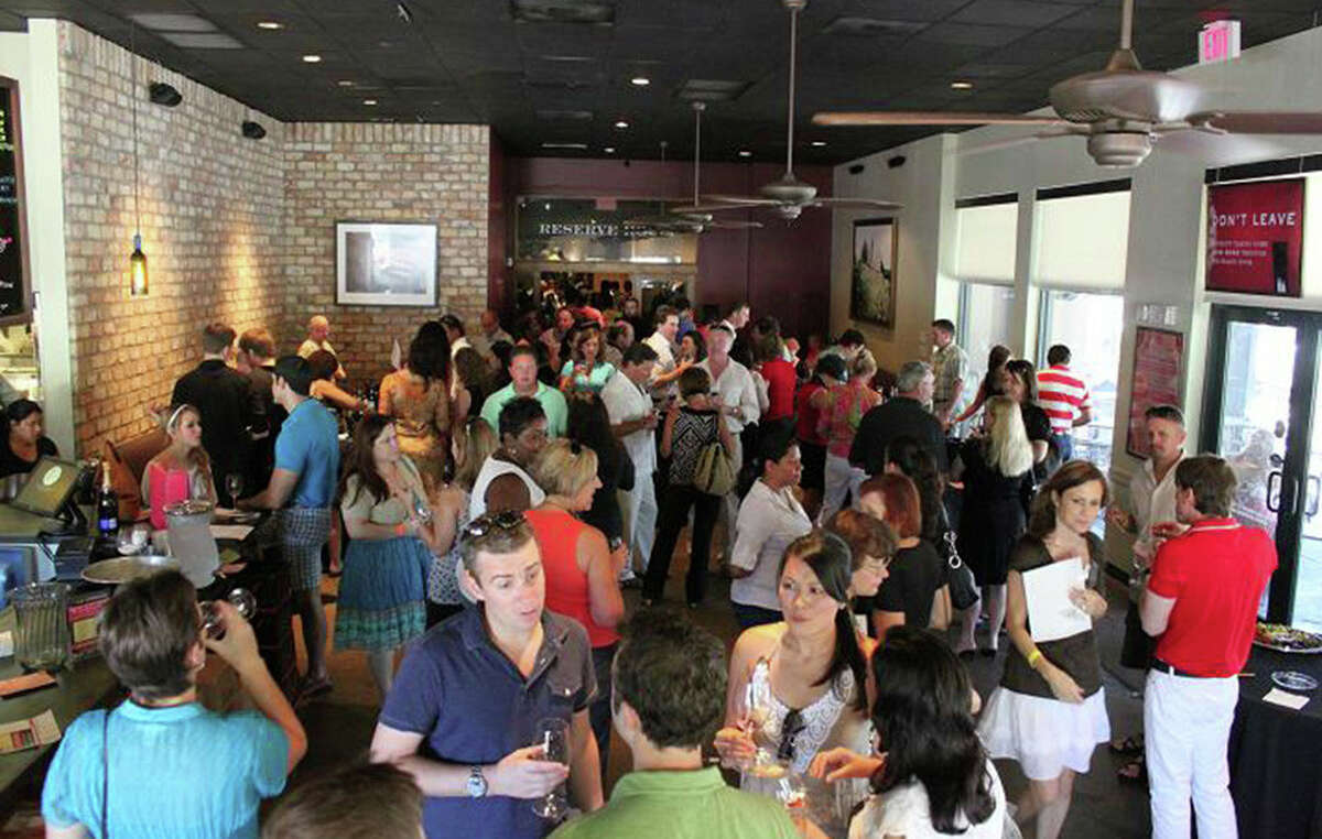 Scenes from the Tasting Room in Uptown Park.