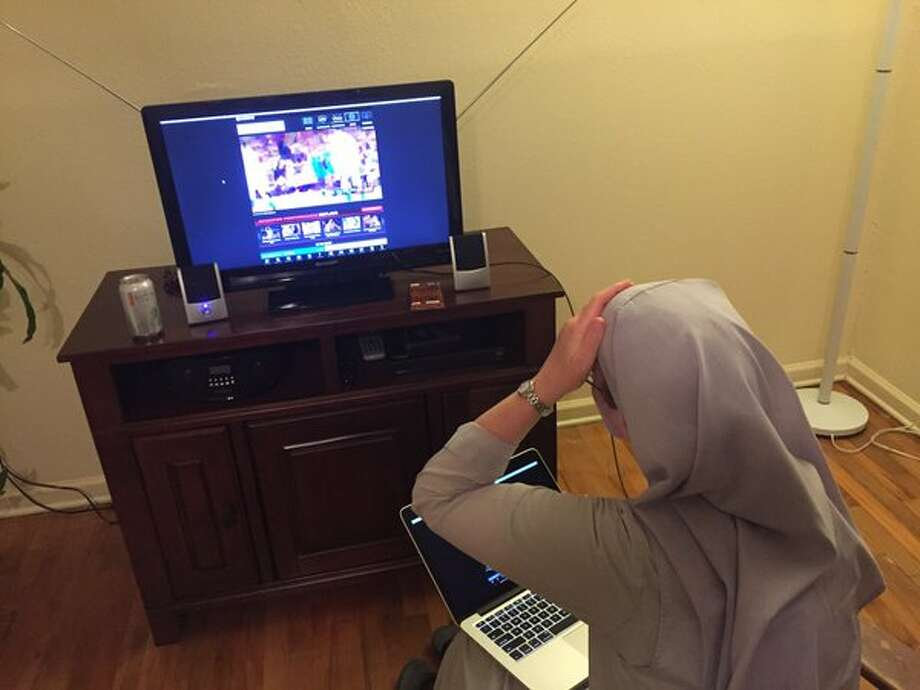 "The wonky live stream of NBA games, especially those involving Golden State Warrior Steph Curry, are a source of ""Sister Mary's"" frustrations.  Photo: Provided By Sr. Miriam James"
