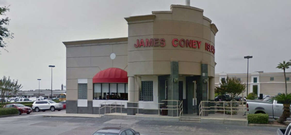 James Coney Island #34 Address: 530 Meyerland Plaza, Houston, Texas 77096 Demerits: 12 Inspection highlights: Observed internal temperature of potentially hazardous food (cheese) held at an improper temperature. Clean soda nozzles as needed; observed black slime residue.