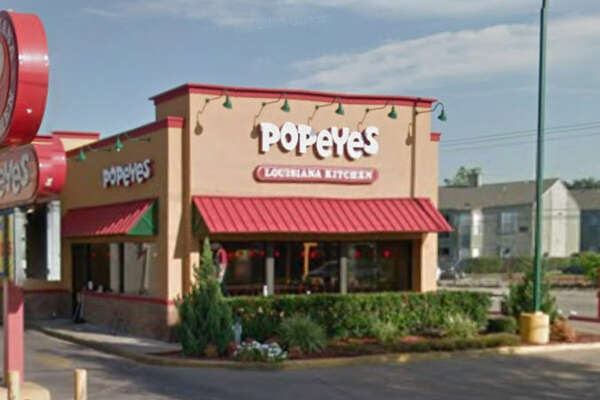 Popeye's #60    Address: 9120 S. Main, Houston, Texas 77025    Demerits: 13   Inspection highlights: Observed black and pink slime residue at interior upper panel of ice machine. Observed a lot of gnats and flies in the kitchen.