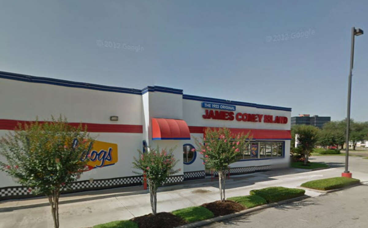 James Coney Island #32 Address: 5730 Hollister, Houston, Texas 77040 Demerits: 9 Inspection highlights: Clean and sanitize ice machine to remove slime; corrected during inspection. Measured internal temperature of potentially hazardous food (grilled onions) held at an improper temperature.
