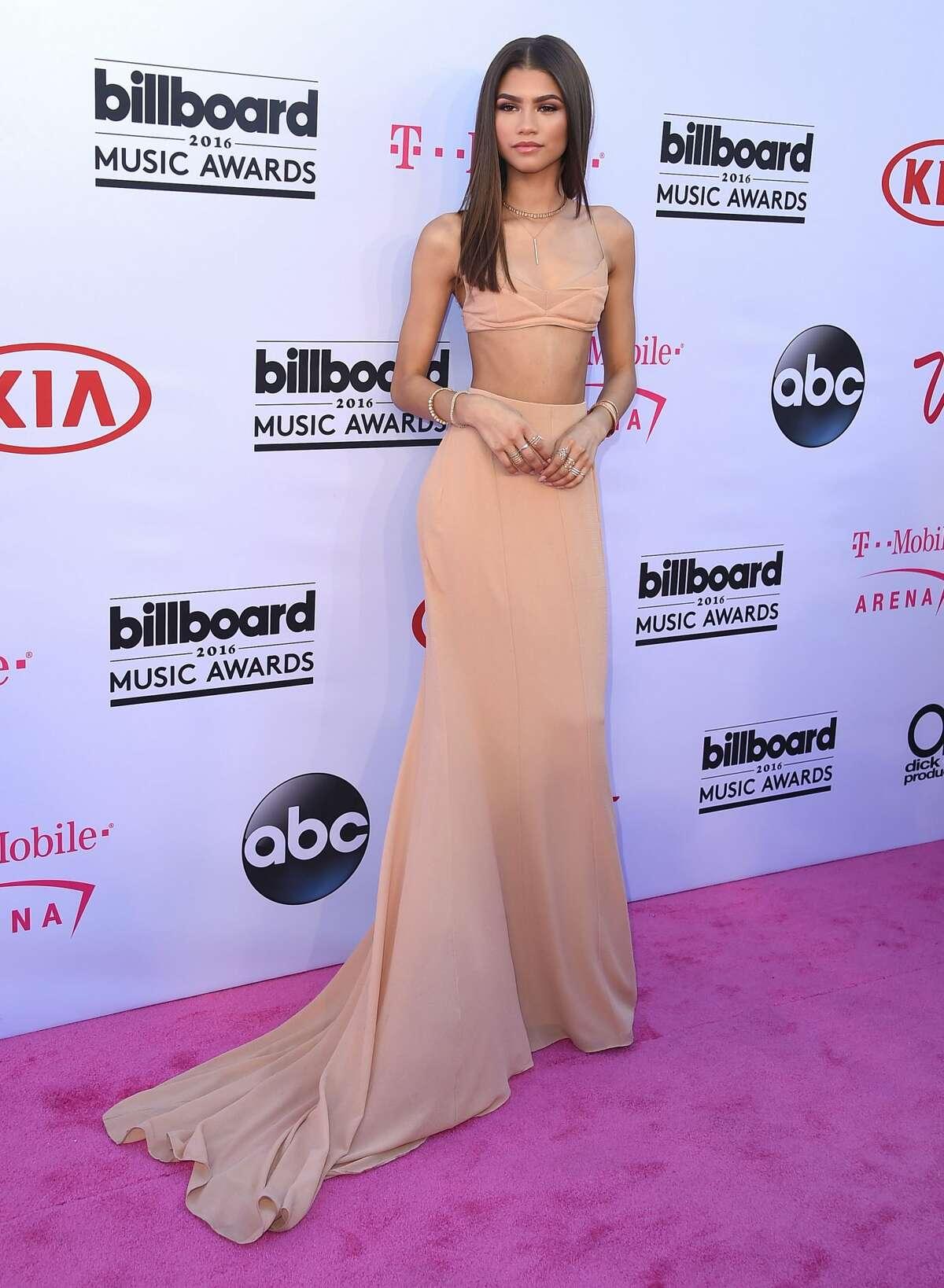 Zendaya arrives at the 2016 Billboard Music Awards at T-Mobile Arena in Las Vegas, Nevada.