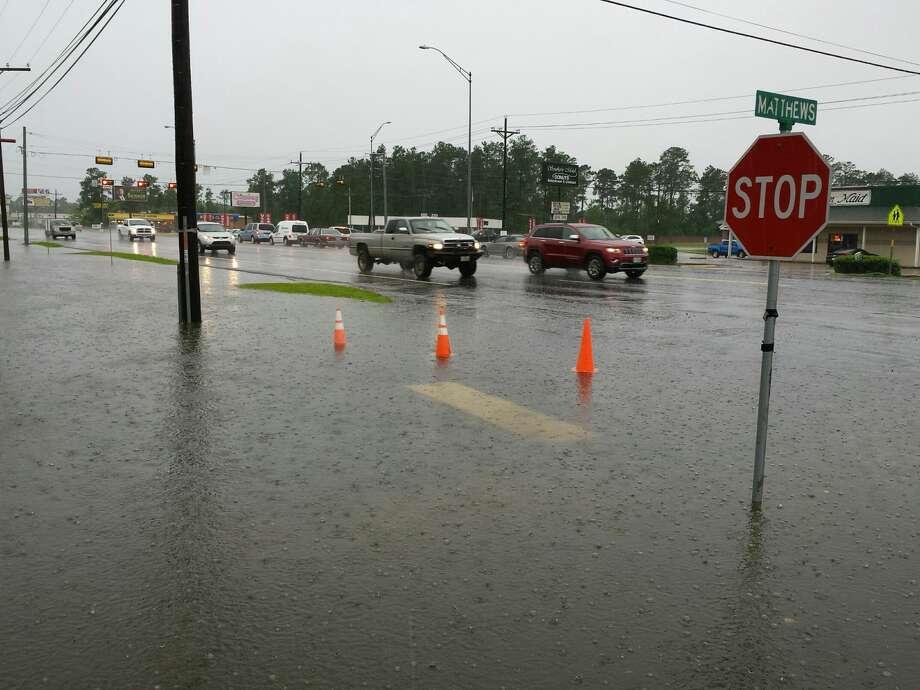 Flooding is seen in Lumberton on Thursday as heavy rains move through Southeast Texas. Photo taken June 2, 2016. Guiseppe Barranco/The Enterprise Photo: Guiseppe Barranco/The Enterprise