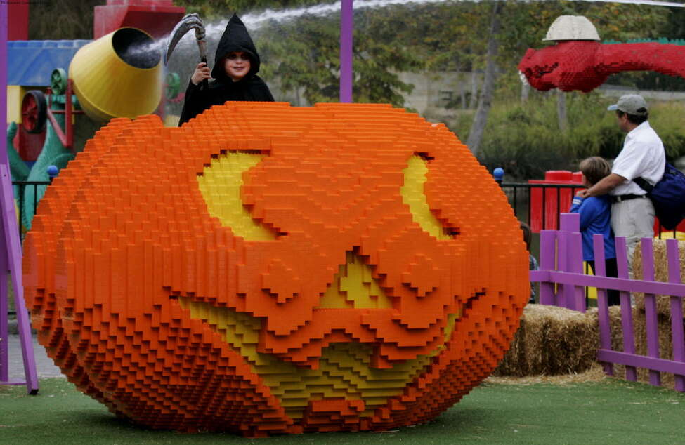 Carlsbad, Calif. - Six-year-old Jake Moyer of San Diego enjoys the silly, spooky fun that is