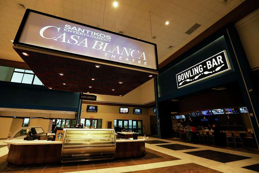 The soon-to-be-completed Santikos Casa Blanca Theater off Alamo Ranch Parkway off 1604 will feature 16 all-laser projection screens as well as 16 bowling lanes in the chain's newest entertainment venue. Highlights include two 90-foot by 43-foot screens which according to officials are the largest in the state. Also, the all-laser projectors at the new theater is only one to two in the world. Casa Blanca has four auditoriums featuring full-service dining. The theater is expected to open by mid-June.