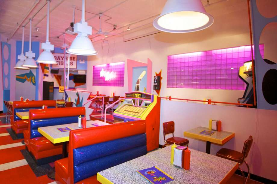 "Saved By The Max, a restaurant in Chicago themed after the Max diner from the television show ""Saved By The Bell,"" opened this week to a sell-out crowd. Photo: David Miller"