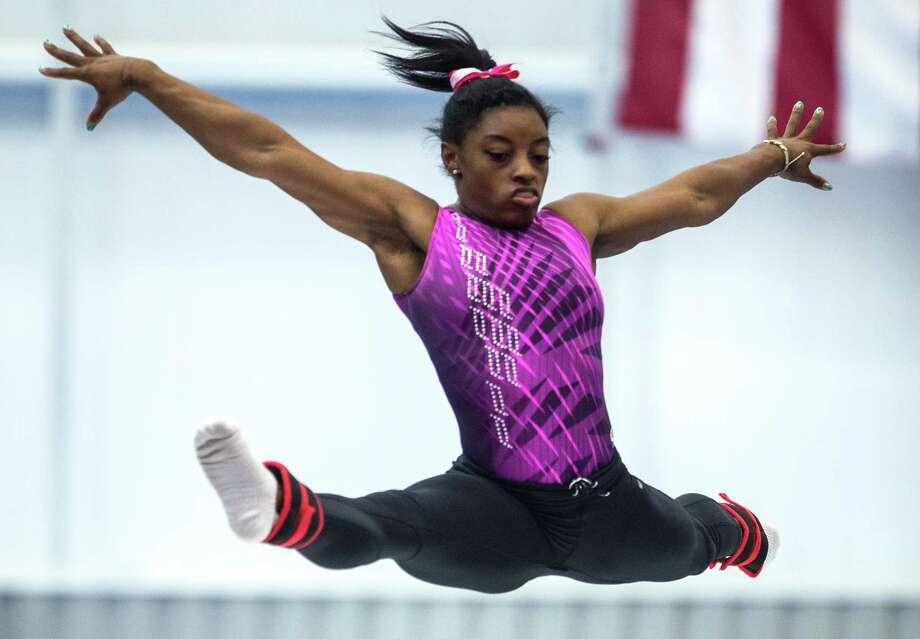 Simone biles gets chance for fine tuning before national meet houston chronicle - Simone biles pics ...