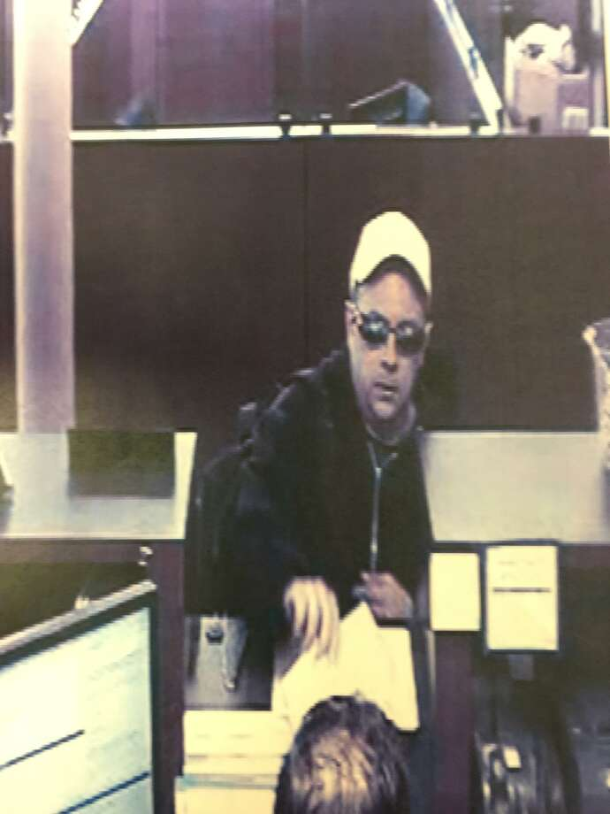 Westport Police released this bank surveillance image of the suspected bank robber. Photo: Westport Police /Westport Police