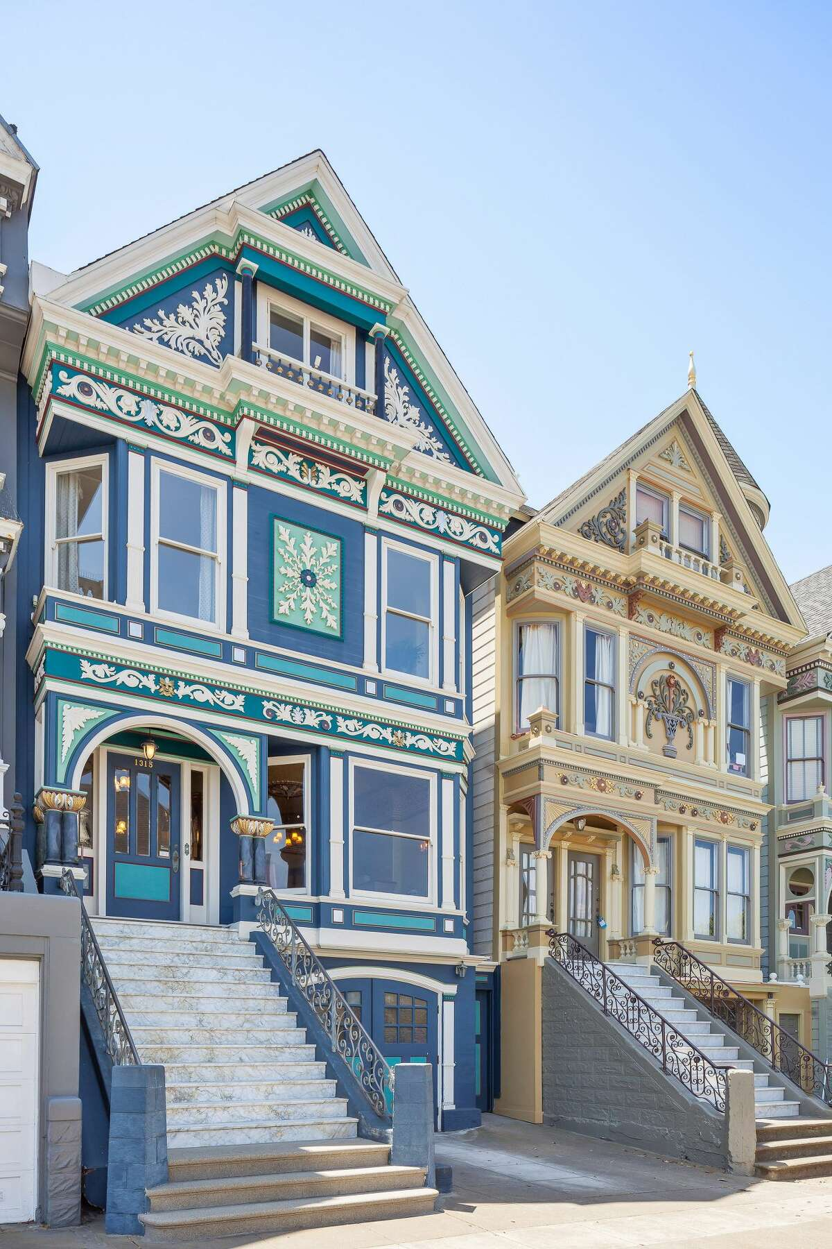 Queen Anne perfection: One of San Francisco's famed Four Seasons' Victorians is on the market for $2.985 million. The four-bedroom has been lovingly restored by an owner who has lived in the home for nearly 40 years.
