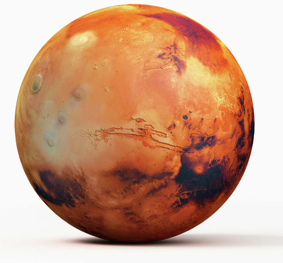 Illustration, planet Mars Photo: Peter Bull Dorling Kindersley / Getty Images/Dorling Kindersley / This content is subject to copyright.