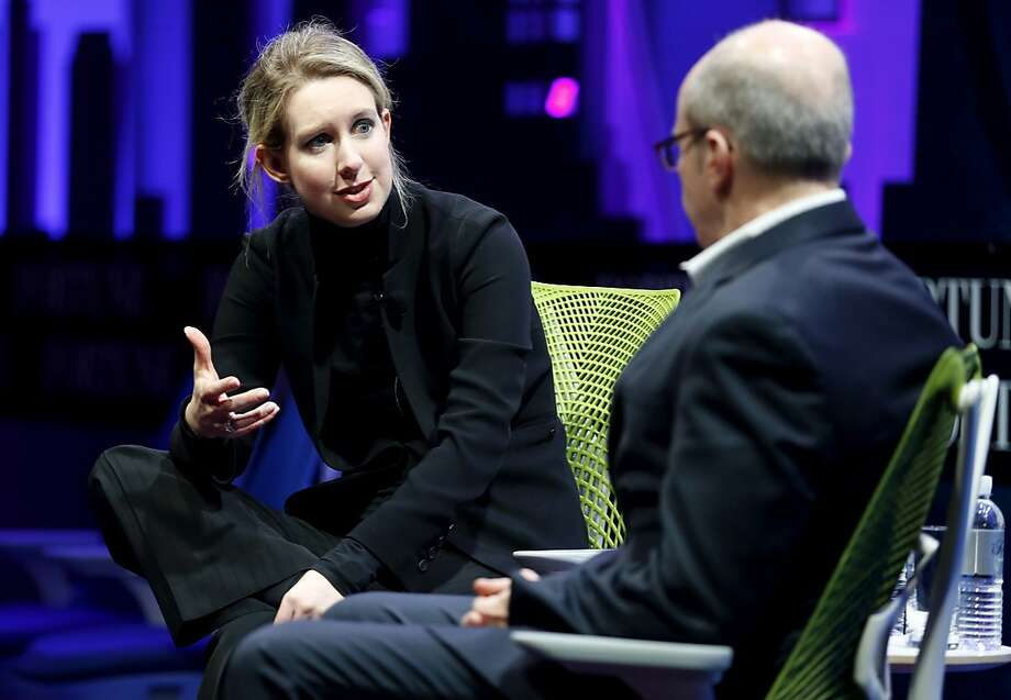 Theranos founder and CEO Elizabeth Holmes speaks at the Fortune Global Forum in San Francisco, California, on Monday, Nov. 2, 2015. Photo: Connor Radnovich, The Chronicle