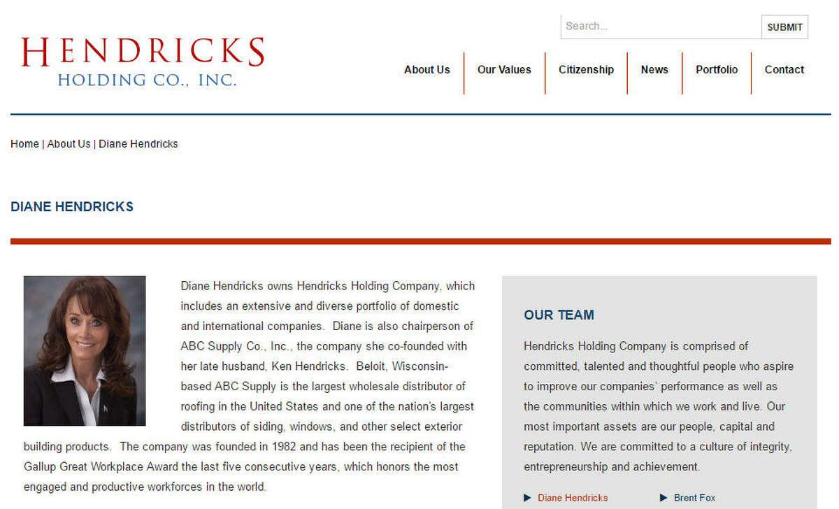 1. Diane Hendricks Title: Co-founder, chairman of ABC SupplyNet Worth: $4.9 billion