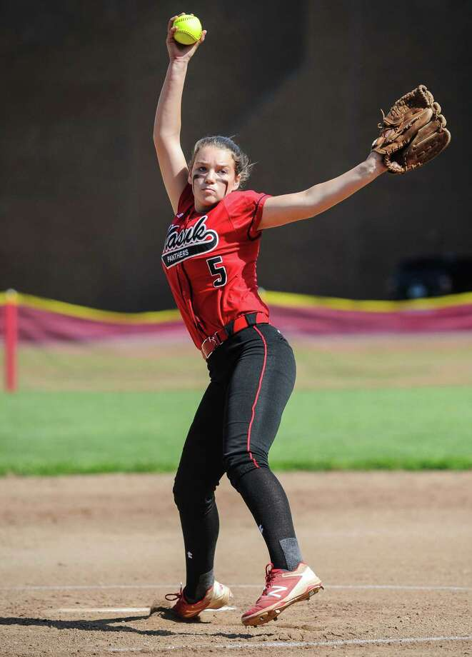 CIAC softball quarterfinal action between the Masuk Panthers and the Laurelton Hall Crusaders at Masuk High School on June 2, 2016 in Monroe, Connecticut. Photo: Gregory Vasil / For Hearst Connecticut Media / Connecticut Post Freelance