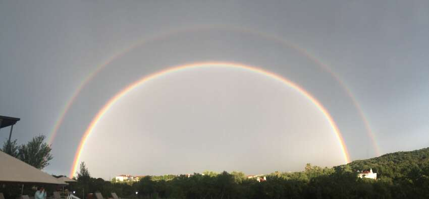 Tori Johnson of San Antonio spotted a double rainbow from The La Cantera Resort and Spa.