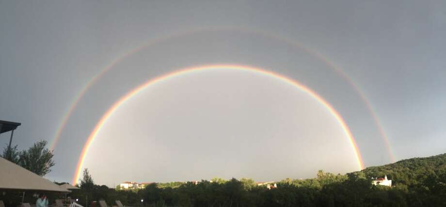 Tori Johnson of San Antonio spotted a double rainbow from The La Cantera Resort and Spa. Photo: Courtesy Tori Johnson