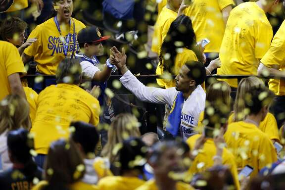 Golden State Warriors' Shaun Livingston leaves the court after Warriors' 104-89 win over Cleveland Cavaliers in Game 1 of NBA Finals at Oracle Arena in Oakland, Calif., on Thursday, June 2, 2016.