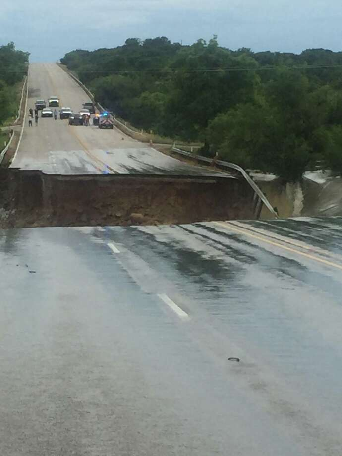 Highway 6 near Lake Cisco was completely washed out due to heavy May-June 2016 flooding and was closed indefinitely. (Texas Department of Transportation)