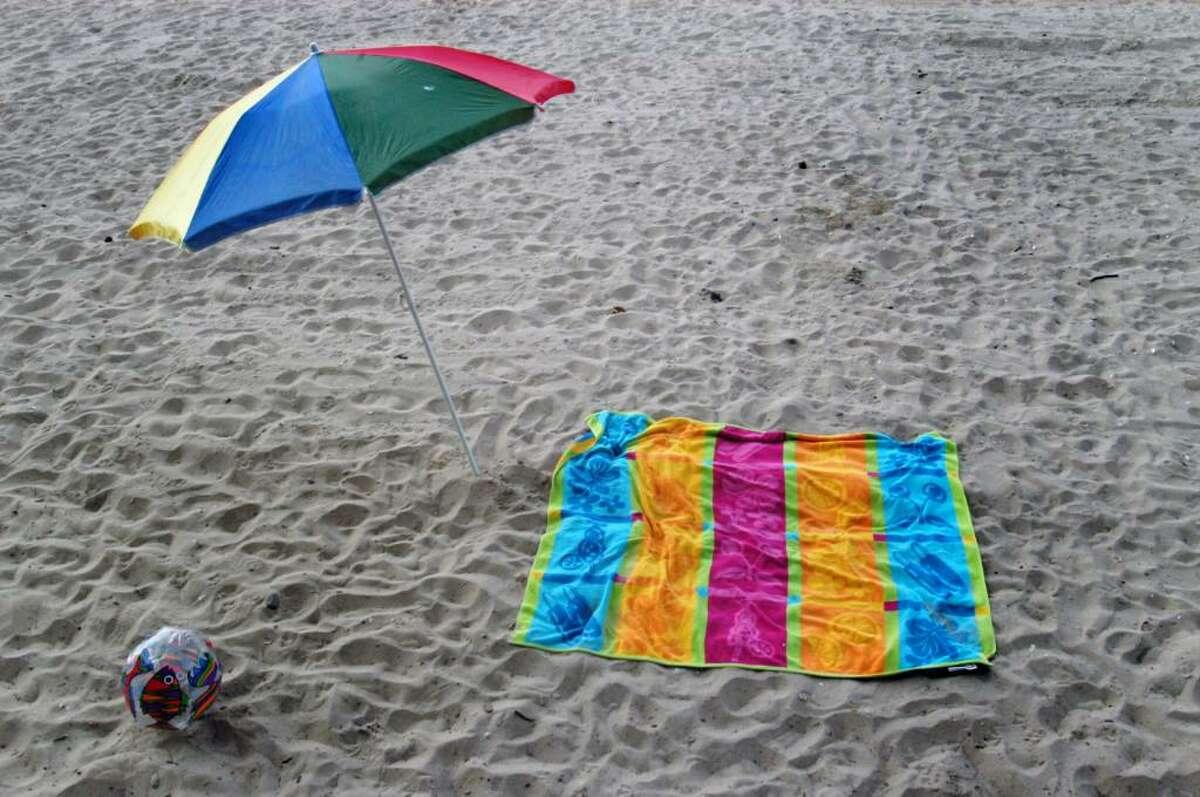 Island Beach Scene.