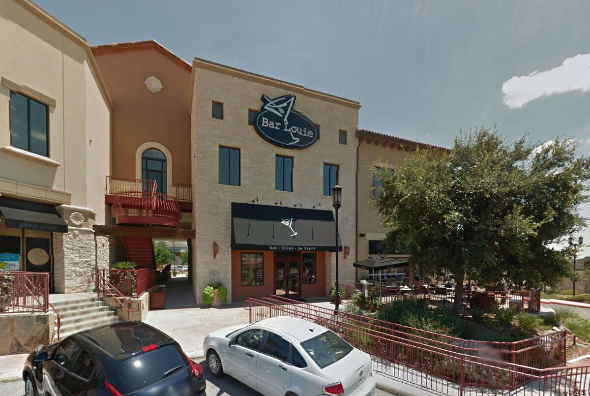 Bar Louie: 22610 U.S. 281 N., San Antonio, TX 78259 Date: 09/07/2017 Score: 73 Highlights: Inspector observed cracked bins, damaged spatulas, whisk with melted handle in kitchen; food not protected from cross-contaminations (avocados, shredded lettuce); mop sink seen stopped up and not draining; poisonous/toxic materials seen stored near food prep areas; no paper towels available in employee restroom; prepared foods must be labeled with expiration date; employees' personal beverage seen near food prep area; bulk foods must be labeled properly; non-food contact surfaces must be clean to sight/touch; floors in kitchen area must be smooth, easily cleanable