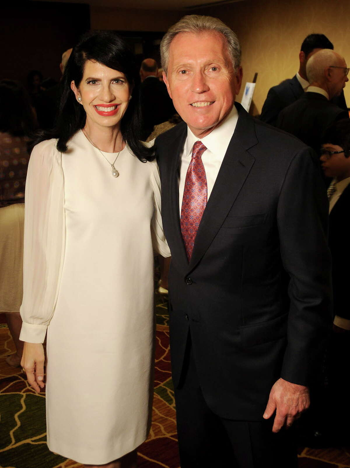Co-chairs Dr. Kelli Cohen Fein and Martin Fein at the Holocaust Museum's annual LBJ Moral Courage Awards dinner at the Hilton Americas Hotel Thursday June 2,2016(Dave Rossman Photo)