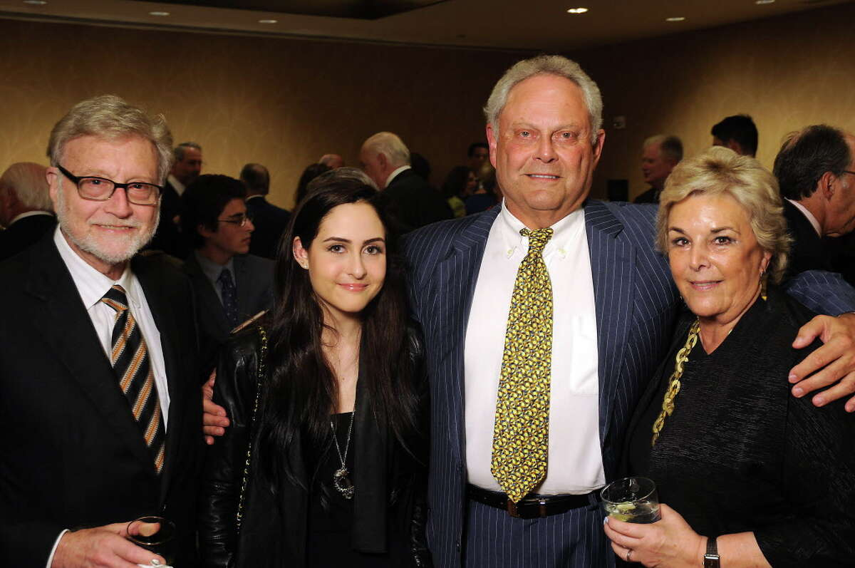 From left: Dan Trachtenberg, Maren Altman, Mickey Altman and Ellen Trachtenberg at the Holocaust Museum's annual LBJ Moral Courage Awards dinner at the Hilton Americas Hotel Thursday June 2,2016(Dave Rossman Photo)