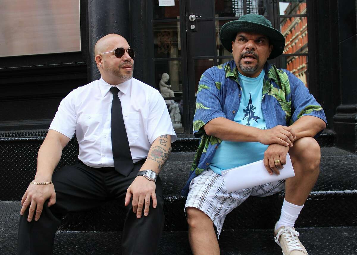 """Affaire ou plaisir? Two New York cops (Edgar Garcia, left, and Luis Guzm�n, right) come to France to solve the theft of a high-fashion�prototype in the mild comedy, """"Puerto Ricans in Paris."""" How is it? Comme ci, comme �a. Photo courtesy Focus World."""