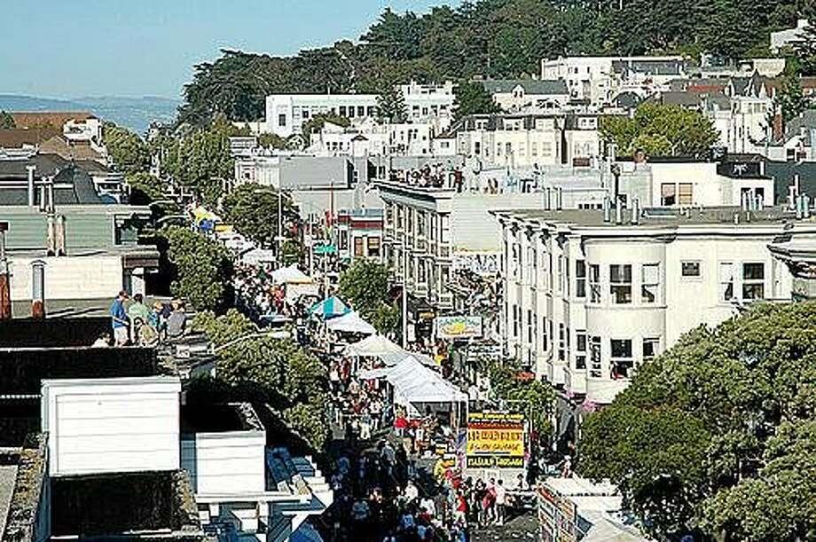 Crowds gather on Haight Street for the Haight Ashbury Street Fair. Photo: Courtesy Rob