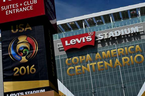 Levi's Stadium, home of the San Francisco 49ers and venue for the first COPA America 2016 soccer match between the United States and Columbia, is seen in Santa Clara, California on June 1, 2016. / AFP PHOTO / Mark RalstonMARK RALSTON/AFP/Getty Images
