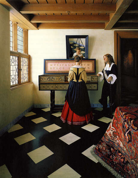 "Hiroshi Sugimoto's wax-figure re-creation of Vermeer's ""Music Lesson"" is part of the photo-collection exhibition."