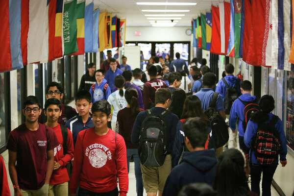 DeBakey High School for Health Professions earned the top spot in the 2016 Children at Risk school rankings Tuesday, May 24, 2016, in Houston. ( Steve Gonzales  / Houston Chronicle  )