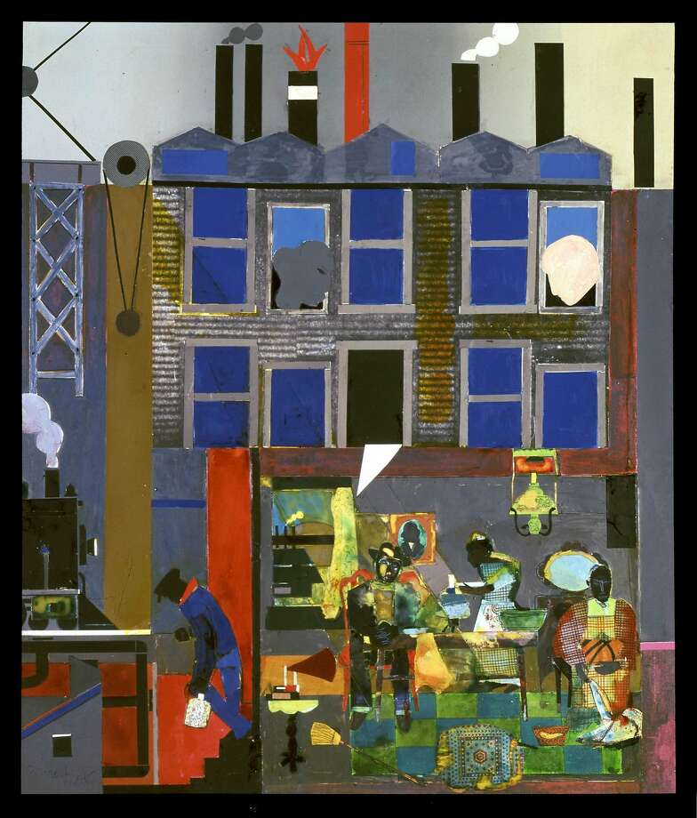 """Romare Bearden, """"Pittsburgh Memories"""" (1984) Photo: ONE TIME USE ONLY, ONE TIME USE ONLY (c)�VAGA/artist, Romare Bearden Foundation"""