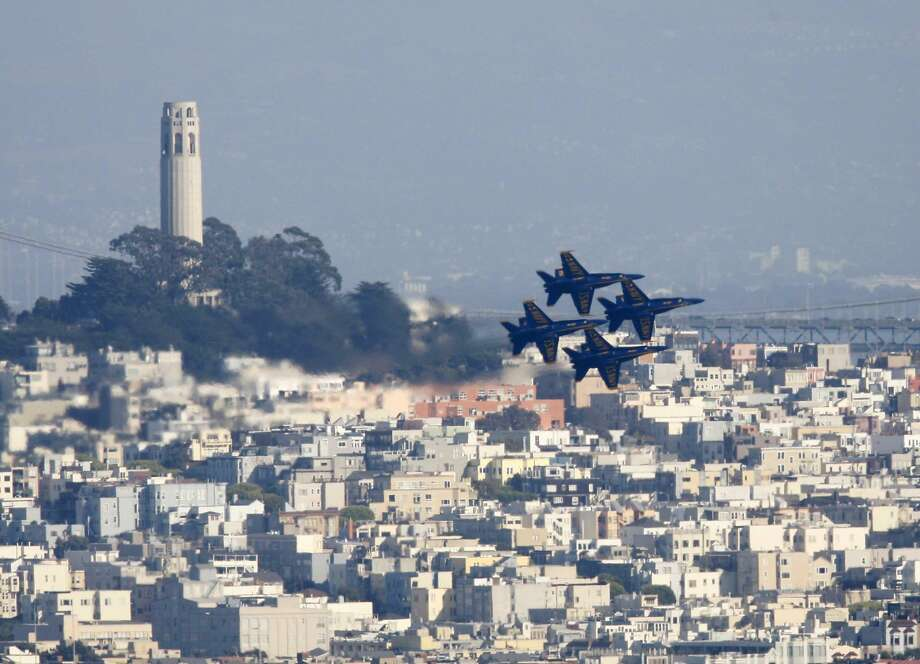 The Navy's Blue Angels perform during Fleet Week in 2010. Photo: Mike Kepka, The Chronicle