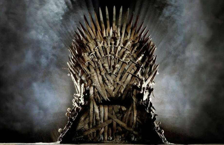 One of the two Iron Throne chairs used on the hit HBO show 'Game of Thrones,' which is based on the series by author George R.R. Martin, might be coming Texas A&M.