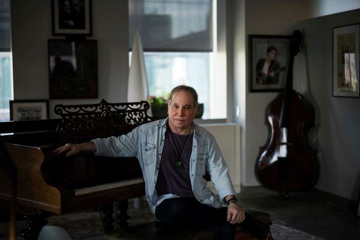 Paul Simon at his office in New York, April 27, 2016. At 74, Simon could be comfortably retired, savoring the continuing popularity of his older songs, or he could stay on the road performing his oldies. Instead, his recent albums are as experimental as anything he has ever recorded. (Todd Heisler/The New York Times)