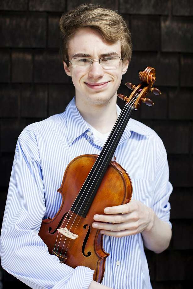 Violinist Kenneth Renshaw will play Brahms' three Violin Sonatas. Photo: Stephen Lam, Special To The Chronicle